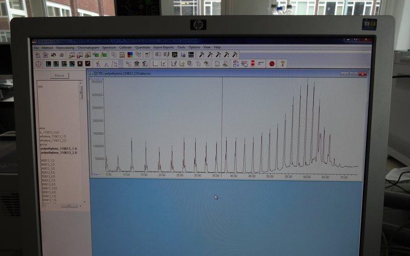 A Poly-ethylene Py-GC chromatogram