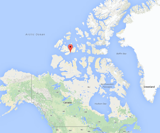 Map of Cape Bounty in the Canadian High Arctic
